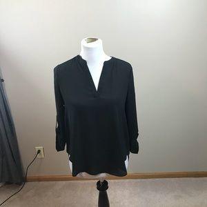 Everleigh Oversized Black Blouse